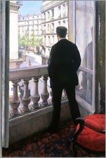 Självhäftande poster  Man at the Window - Gustave Caillebotte