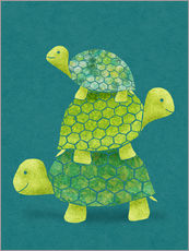 Galleritryck  Turtle Stack - Lindsey Rounbehler