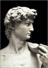 Poster Marble statue of David (detail)