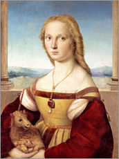 Galleritryck  Woman with an unicorn - Raffael