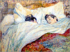 Galleritryck  The Bed - Henri de Toulouse-Lautrec