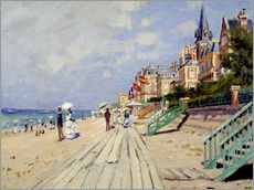 Galleritryck  The beach at Trouville - Claude Monet