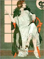 Galleritryck  Lady writing - Clarence Coles Phillips