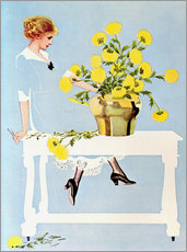 Galleritryck  Housekeeper with bouquet - Clarence Coles Phillips