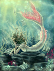 Galleritryck  Reading Mermaid - Lost Books - Tiffany Toland-Scott