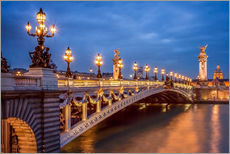 Galleritryck  Pont Alexandre III in Paris - Jan Christopher Becke