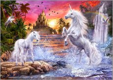 Galleritryck  Unicorn Waterfall Sunset - Jan Patrik Krasny