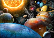 Galleritryck  Planets and Their Moons - Adrian Chesterman