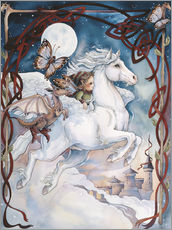 Galleritryck  Child Riding On Horse - Jody Bergsma
