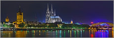Galleritryck  Cologne skyline at night - FineArt Panorama