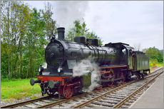 Galleritryck  Old Steam Locomotive in the Black Forest - FineArt Panorama