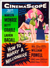 Galleritryck  HOW TO MARRY A MILLIONAIRE, Betty Grable, Marilyn Monroe, Lauren Bacall