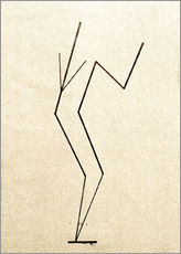 Självhäftande poster  Analytical drawing after photos of dancing?.. - Wassily Kandinsky