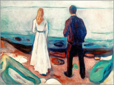 Akrylglastavla  Two people. The lonely - Edvard Munch