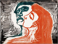 Galleritryck  Man and woman is kissing - Edvard Munch