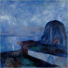 Premiumposter  Starry Night - Edvard Munch