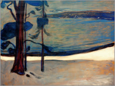 Aluminiumtavla  Winter in North beach - Edvard Munch
