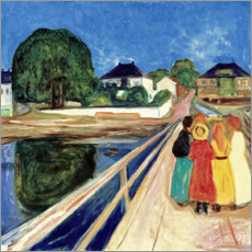 Akrylglastavla  Girl on a Bridge - Edvard Munch