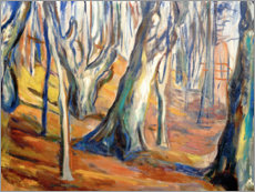 Trätavla  Autumn (Old trees, Ekely) - Edvard Munch