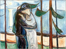 Akrylglastavla  Kiss on the beach - Edvard Munch
