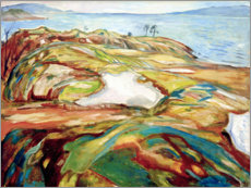Premiumposter  Big coastal landscape - Edvard Munch