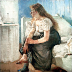 Premiumposter  Girl on the bed - Edvard Munch