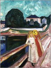 Canvastavla  The Girls on the Bridge - Edvard Munch