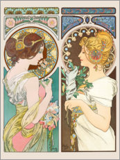 Galleritryck  Primrose & Feather - Alfons Mucha
