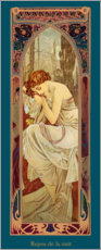 Poster  Times of the Day - Night's Rest - Alfons Mucha