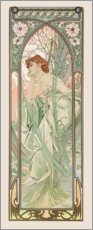 Akrylglastavla  Times of the Day - Evening Contemplation - Alfons Mucha