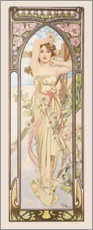 Akrylglastavla  Times of the Day - Brightness of Day - Alfons Mucha