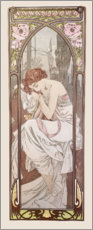 Trätavla  Times of the Day - Night's Rest - Alfons Mucha