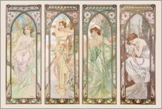 Galleritryck  Les heures du jour (Times of the Day) - Alfons Mucha