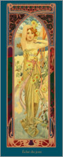 Canvastavla  Times of the Day - Brightness of Day - Alfons Mucha
