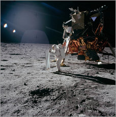 Självhäftande poster  Apollo 11 Moon Walk - Stocktrek Images