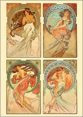 Galleritryck  The four arts, collage - Alfons Mucha