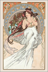 Självhäftande poster  The Arts - Music - Alfons Mucha
