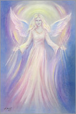 Galleritryck  Light and Love - angel painting - Marita Zacharias