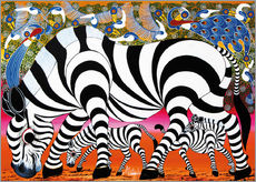 Galleritryck  Zebras on foraging - Mustapha