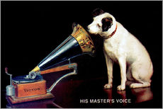 Självhäftande poster  Victor Grammophon - His master's voice - Advertising Collection