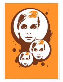 Premiumposter Twiggy Mathmos Orange