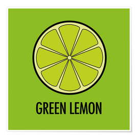 Premiumposter Green Lemon Juice