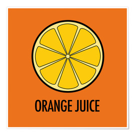 Premiumposter Orange Juice