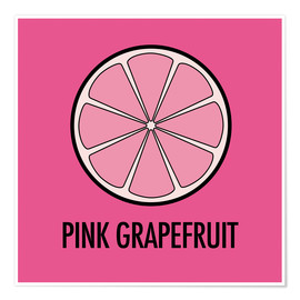 Premiumposter Pink Grapefruit Juice