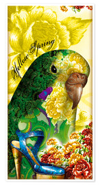 Premiumposter Pretty budgerigar