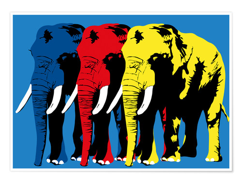 Premiumposter Elephant Walk