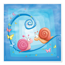 Premiumposter blue snails