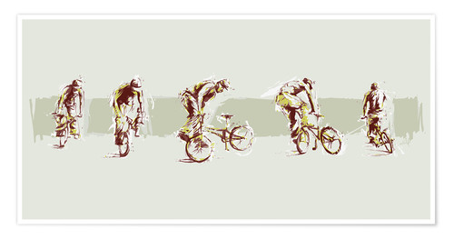 Premiumposter bmx sequence