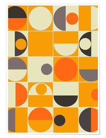 Premiumposter Panton orange