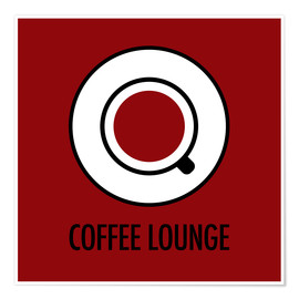 Premiumposter Coffee lounge, red